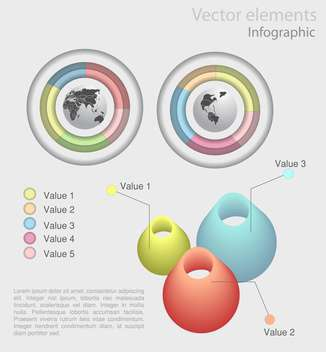 set of business infographics elements - vector #129209 gratis