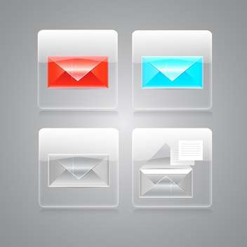vector envelopes icons set - vector gratuit #129229