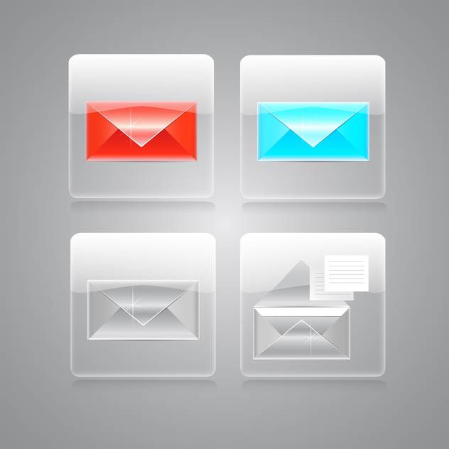 vector envelopes icons set - vector #129229 gratis