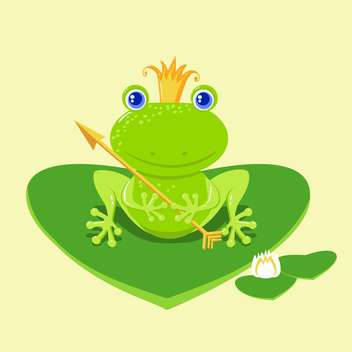 vector frog princess cartoon character - vector gratuit #129259