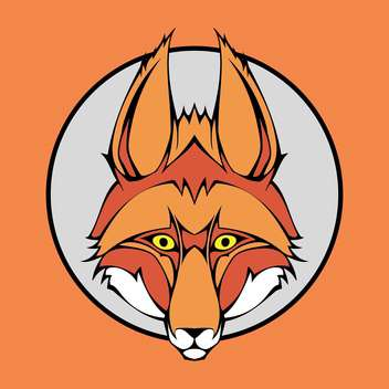 fox animal vector head - бесплатный vector #129269