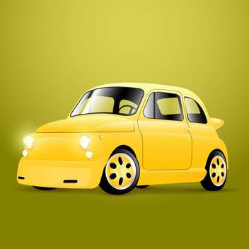 Vector illustration of yellow retro car - vector gratuit #129279