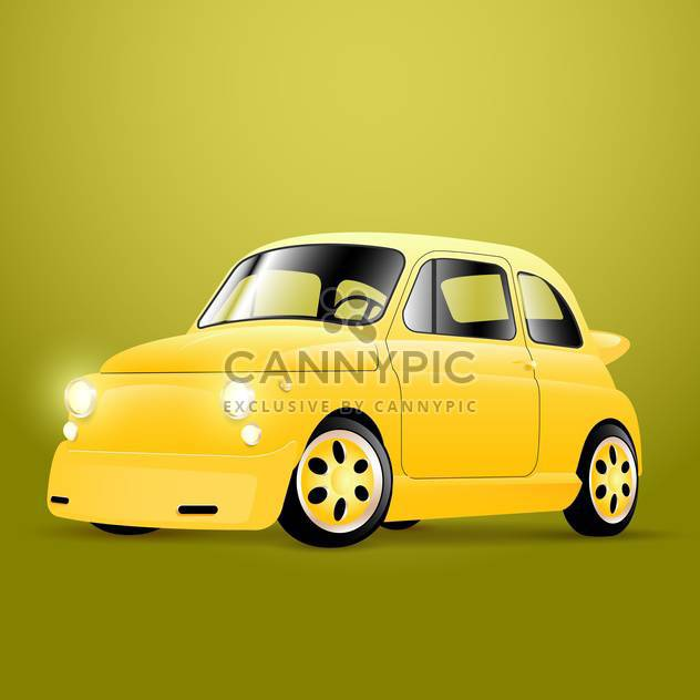 Vector illustration of yellow retro car - Free vector #129279