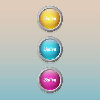 Vector set of colorful buttons - vector gratuit #129299