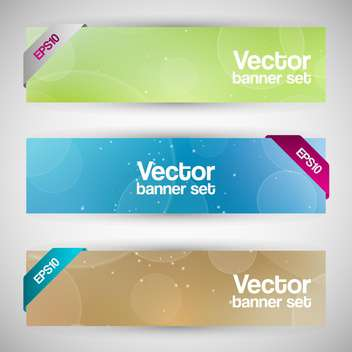 Vector set of colorful banners on gray background - Free vector #129369