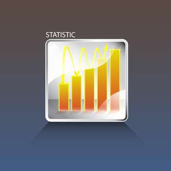 Vector business chart button on blue background - vector #129389 gratis