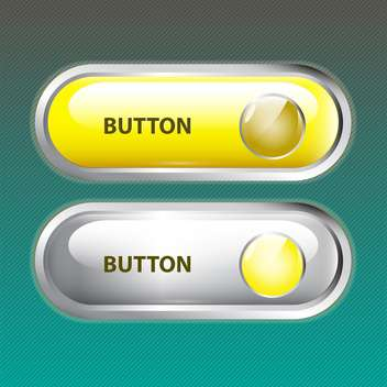 Vector set of two web buttons on green background - vector gratuit #129399