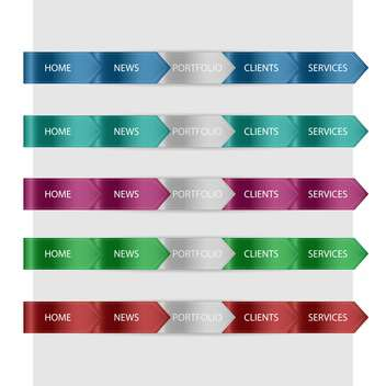Vector website design colorful arrows - vector gratuit #129459