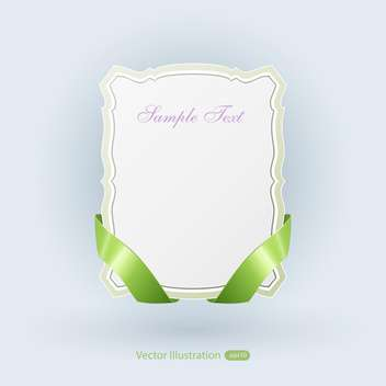 Vector banner with green ribbons on blue background - vector gratuit #129469