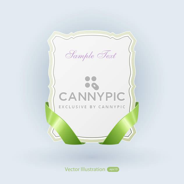 Vector banner with green ribbons on blue background - Free vector #129469