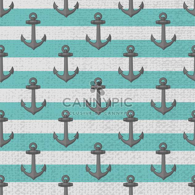 Seamless vector anchors pattern background - Free vector #129549