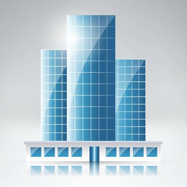 Vector illustration of cityscape background with skyscrapers on gray background - vector gratuit #129589