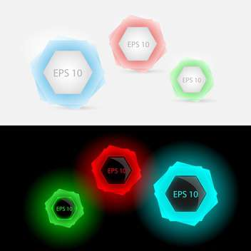 Vector set of colorful glowing buttons - vector gratuit #129609