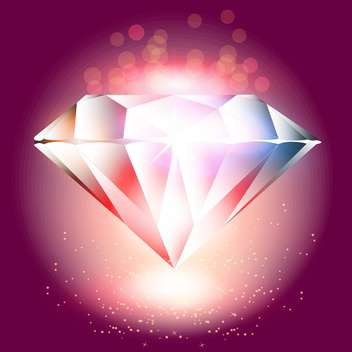 Vector illustration of crystal on red shiny background - vector gratuit #129669