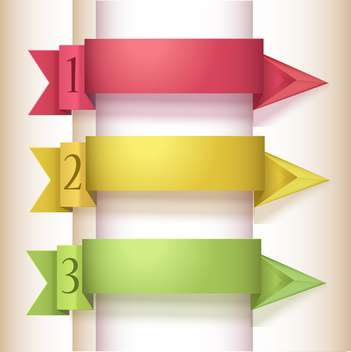 Vector illustration of colorful origami style option arrows with numbers - vector #129709 gratis