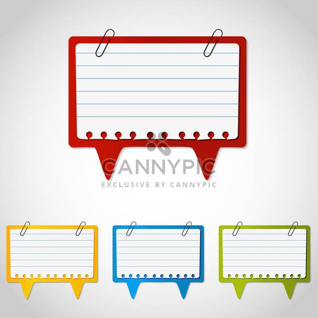 Vector set of paper speech bubbles - Free vector #129889