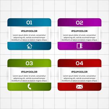 Colorful vector banners with numbers - Free vector #129929