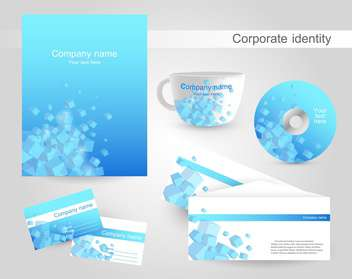 Professional corporate identity kit or business kit with artistic abstract effect - Free vector #130009