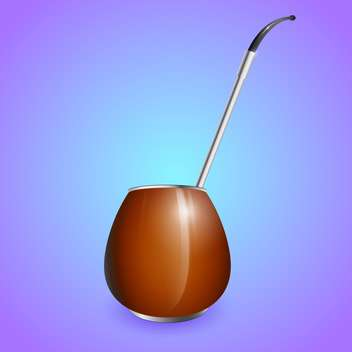 Vector illustration of calabash on blue background - vector gratuit #130029
