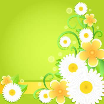 Spring floral background with place for text - vector gratuit #130049