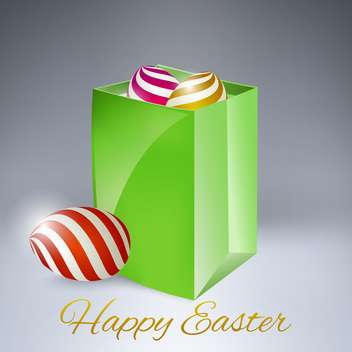Vector background for happy Easter with eggs - vector #130079 gratis