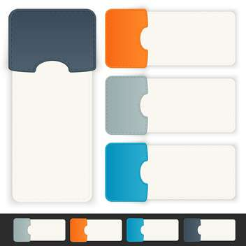 Vector set of paper tags on white background - vector #130129 gratis