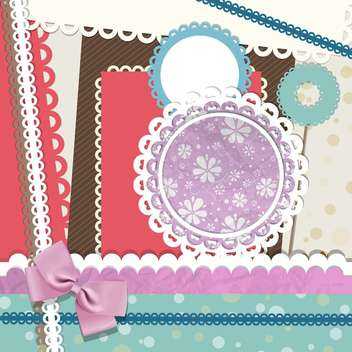 Vector illustration of scrapbook elements - Free vector #130139