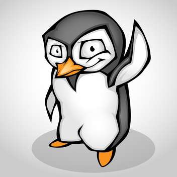 Vector illustration of cartoon penguin isolated - бесплатный vector #130169
