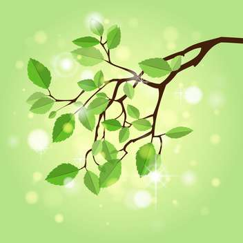 Vector illustration of summer branch - vector gratuit #130219
