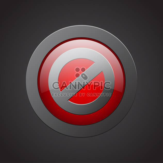 red no sign vector background - Free vector #130259