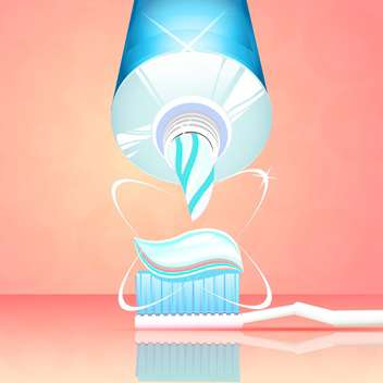 vector toothbrush with toothpaste and tube - vector #130309 gratis