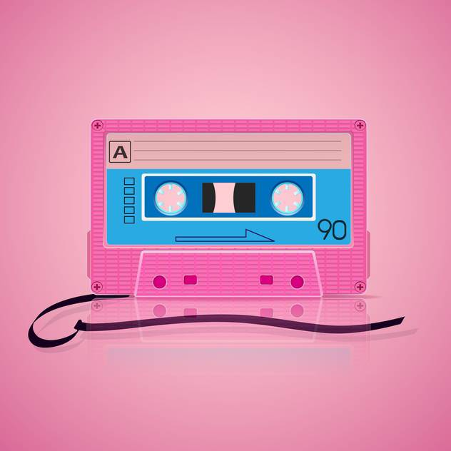 pink audio cassette background - бесплатный vector #130339