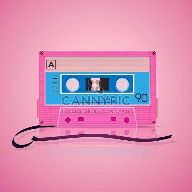 fond rose cassette audio - vector gratuit #130339