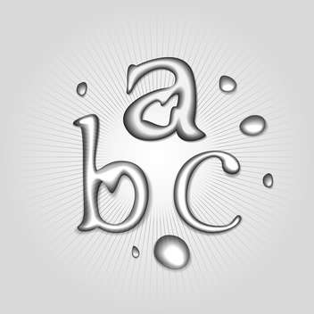 vector water font letters a b c - Free vector #130359