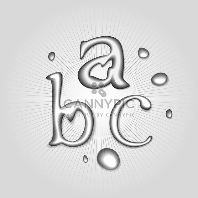 vector water font letters a b c - Kostenloses vector #130359