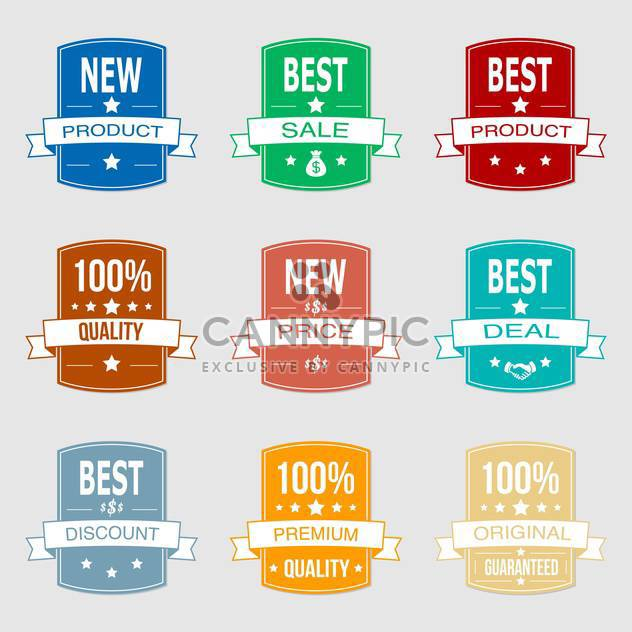 Set with vector sale labels - Free vector #130379