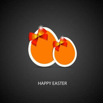 Happy easter greeting card - vector gratuit #130399