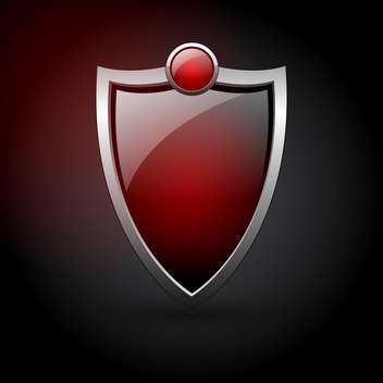 Vector red shield icon - vector gratuit #130419