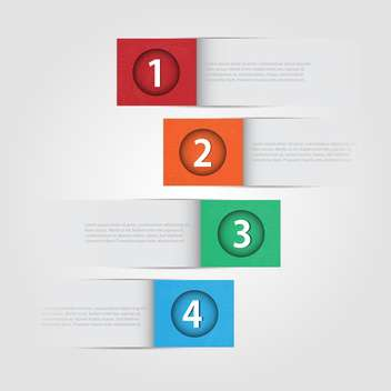 Vector numbered banners with place for text - Free vector #130459