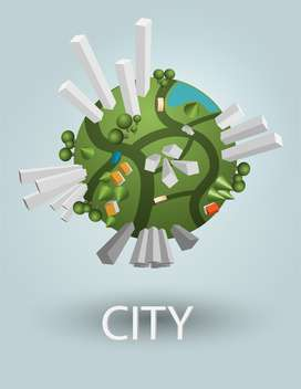 industrial globe elements with residential areas - vector #130489 gratis