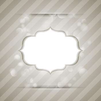 Vector vintage frame on striped background - vector gratuit #130529