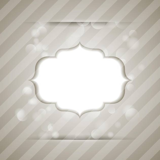 Vector vintage frame on striped background - бесплатный vector #130529