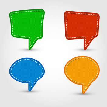 Vector set of colorful speech bubbles - vector gratuit #130549