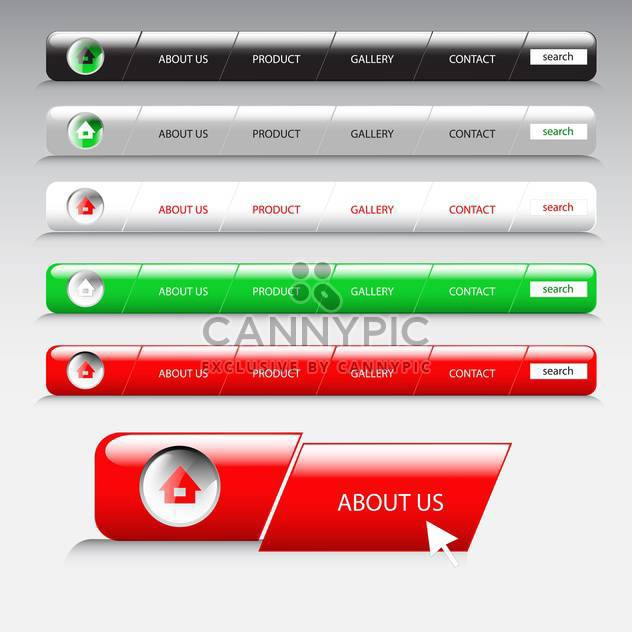 vector illustration of website template on grey background - Free vector #130599