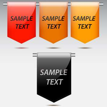 Vector set of colorful labels on grey background - vector #130629 gratis