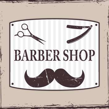 Barber Shop or hairdresser icons on grey background - vector #130669 gratis