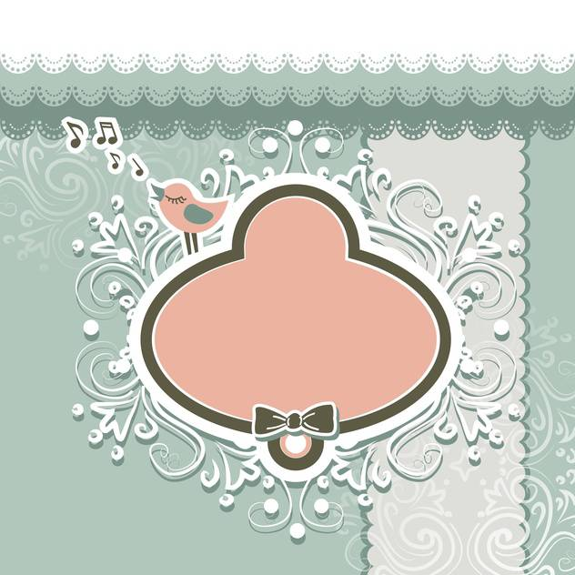 Retro style frame and design elements for scrapbooking - vector gratuit #130789