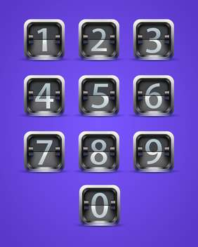 throw numeral buttons on purple background - vector gratuit #130839