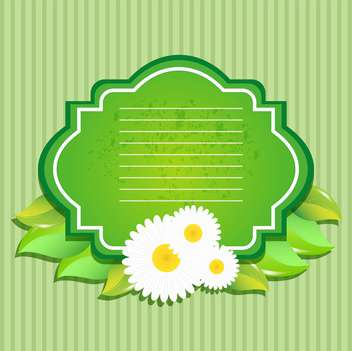 Greeting card with flowers vector illustration - Kostenloses vector #130879