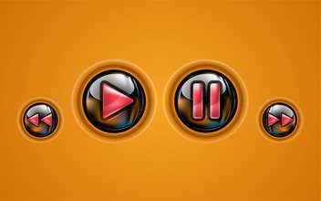 Control panel of media player - vector #130949 gratis